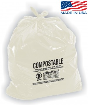 Compostable Trash Bags - 40-45 Gallon Capacity
